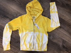 Girls Terry Cloth Yellow Hoodie Jacket sz 12 T2 Love Brand new with tags for Sale in Miramar, FL