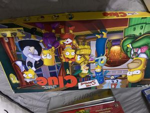 """Simpsons""""Clue"""" Board game for Sale in Euless, TX"""