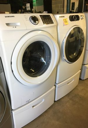 Samsung frontload washer dryer 2016 never used open box for Sale in Durham, NC