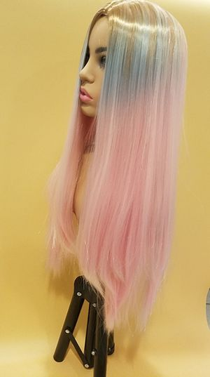 Long Pink Straight Wig for Sale in Hudson, FL