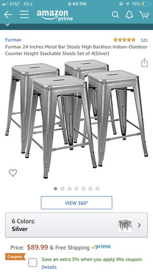 4 metal bar stools new for Sale in Naperville, IL