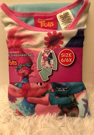 Trolls 2PC Blue Pijama Set size 6/6X NWT for Sale in New Market, MD