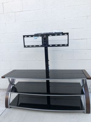 Glass tv stand (with hardware) for Sale in Salt Lake City, UT