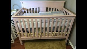 Pink changing table and crib for Sale in Bellevue, WA
