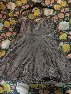 Charlotte Russe Silver Sequin Strapless Dress for Sale in Virginia Beach, VA