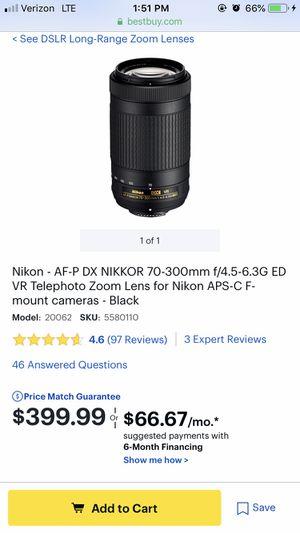 70-300 nikor lens for Sale in Miami Gardens, FL