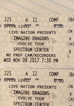 Imagine Dragons tickets Wednesday, November 8 at 7:30 at the spectrum center best seats in the house for Sale in Charlotte, NC