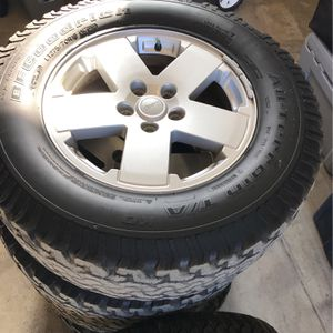"Jeep JK Sahara 18"" Wheels/ Tires for Sale in Cabazon, CA"