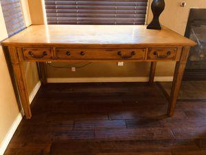Beautiful Large Solid Oak Computer Desk for Sale in Phoenix, AZ