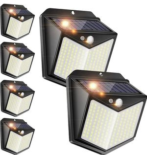 Solar Fence Lights Outdoor,[140 LED/ 6 Pack] Solar Motion Sensor Security Lights with Wireless IP 65 Waterproof, 1000 Lumen Solar Powered Lights for Sale in Rancho Cucamonga, CA