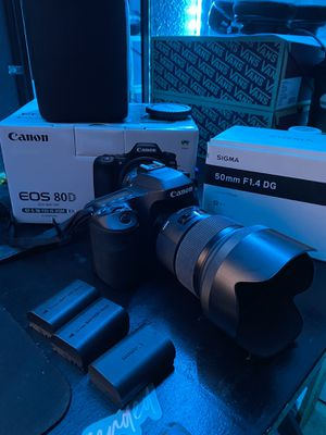 Canon EOS 80D with Sigma Art 50mm 1.4 Lens for Sale in Hughson, CA