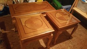 2 end tables and a coffee table for Sale in Midlothian, VA