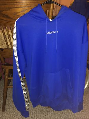 Adidas blue hoodie L for Sale in Roselle, IL