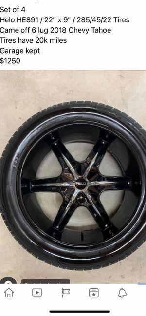 """22"""" rims that came off a Chevy Tahoe for Sale in Lake Worth, FL"""