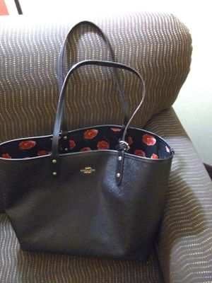 Coach large black bag and wallet for Sale in Hoffman Estates, IL