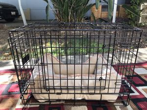 Dog cage and bed for Sale in Olivehurst, CA