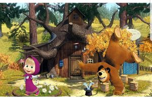 Masha and the bear Backdrop 8×8ft for Sale in Fontana, CA