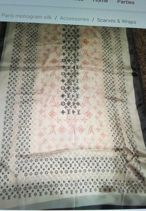 New authentic Louis Vuitton Paris giant pop monogram silk scarf for Sale in Montvale, NJ