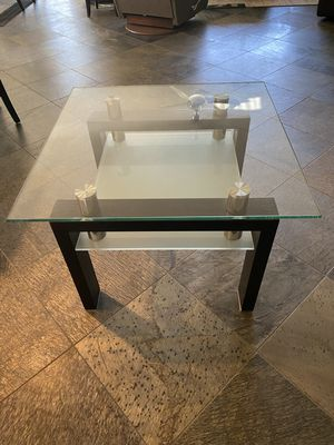 Dark Espresso Glass End Table for Sale in La Quinta, CA