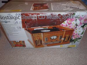 Record Player combo - nostalgic stereo CD music system for Sale in Carlsbad, CA