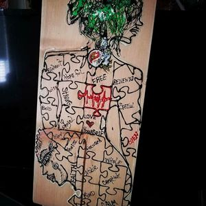 EyeWood Original Abstract Art on Wood #stonerartseries for Sale in Irvine, CA