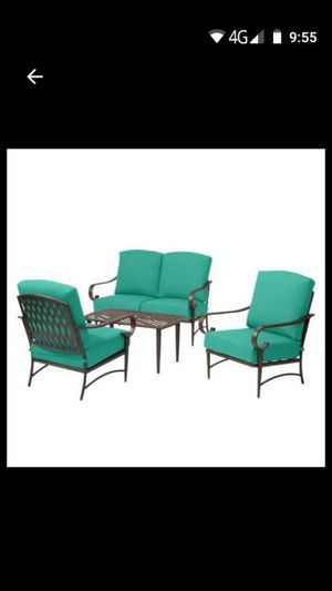 Metal 4-Piece outdoor patio furniture chairs patio set for Sale in Moreno Valley, CA