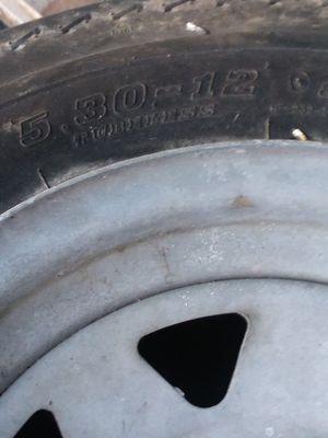 Perfect trailer tire&galvy 5 lug wheel for Sale in Pembroke, MA