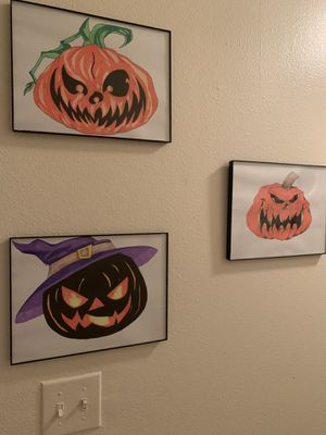 Hand drawing art pumpkins for Sale in Tampa, FL