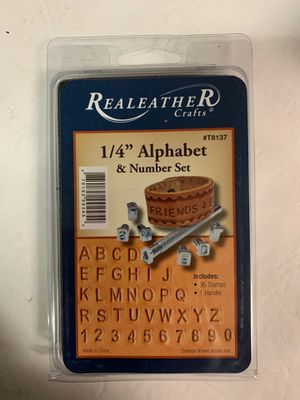 "Realeayher crafts 1/4"" Alphabet & number set for Sale in Tacoma, WA"