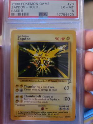 Pokemon base set 2 zapdos psa 6 for Sale in Bladensburg, MD