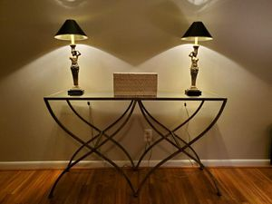 Contemporary Console Table metal and mirror glass for Sale in Roanoke, VA