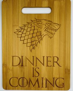 Game of thrones laser engraved bamboo high quality cuttingboard pop gift for Sale in Los Angeles,  CA