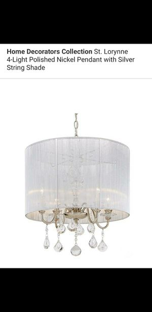 4 light chandelier with silver string shade for Sale in Bakersfield, CA