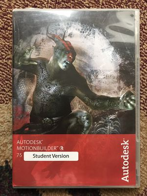 Autodesk Motionbuilder 7.5 Software Student Version Mac or Windows for Sale in Bellevue, WA