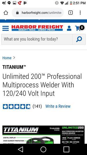 Brand new never been used. Welder titanium for Sale in Las Vegas, NV