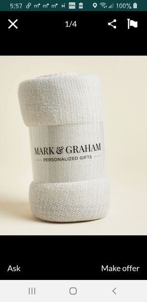 MARK & GRAHAM THROW BLANKET NEW for Sale in MONARCH BAY, CA