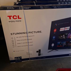 TCL 65 Inch Smart 4K Tv for Sale in Highland, CA