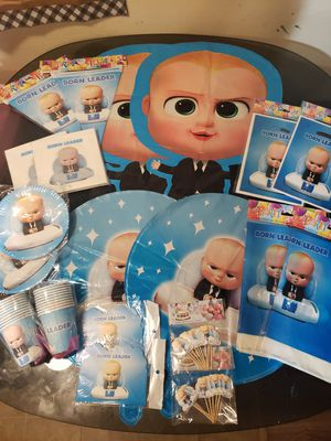 Boss Baby balloons Boss baby decorations for Sale in Bellflower, CA