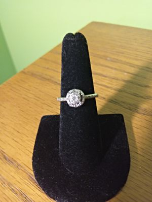 Diamond and sterling silver ring 6.5 for Sale in Washington, PA