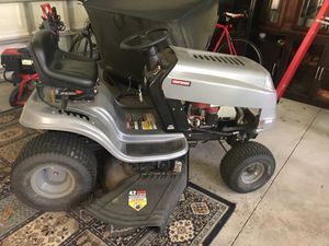 Lawn tractor with leaf sweeper for Sale in Lutz, FL