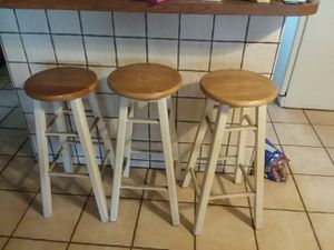 Solid oak barstools for Sale in Long Beach, CA