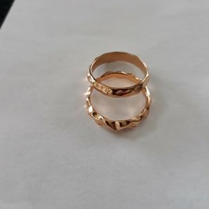 Set 2 Piece 18 K Gold Plated Wedding Ring, Size 8. for Sale in Dallas, TX