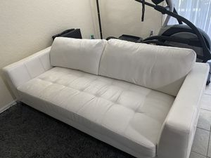 White leather couch set and coffee tables for Sale in Hollywood, FL