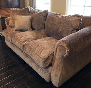 Large Chenille Couch for Sale in Los Angeles, CA