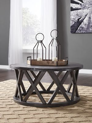 Ashley Furniture Grayish Brown Round End Table for Sale in Garden Grove, CA