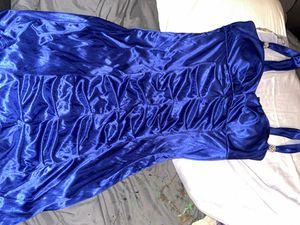 Dark Navy Blue Formal Dress Like New, Soft, Side zipper $20 for Sale in Dallas, TX