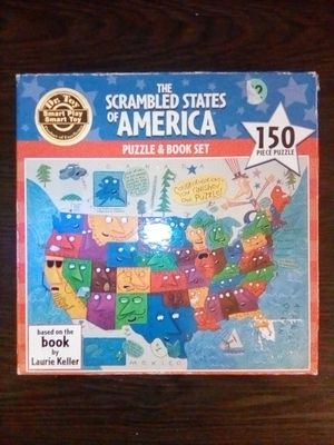 Ceaco The Scrambled States of America Puzzle & Book Set 150 Piece Jigsaw Puzzle for Sale for Sale in San Jose, CA