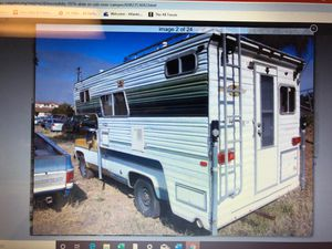 1976 slide in cab over truck camper dreamer long bed a/c for Sale in Escondido, CA