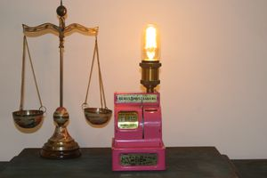 Pink Antique Coin Bank Edison Lamp for Sale in Norfolk, VA
