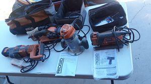 Ridgid Sawzall, Ridgid Belt Sander, Ridgid Router, Ridgid Jig Saw 4 Tools $120.00! for Sale in Cape Coral, FL